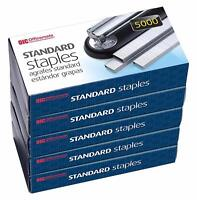Officemate Standard General Purpose Staples, 5 Boxes Of 5000 (25000 Count Total)