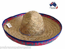 Mexican Sombrero Hat & Moustaches Party Fun Set Wild West Cowboy