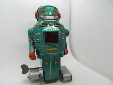 "1960'S NOGUCHI MIGHTY MECHANICAL ROBOT 5.5"" WIND-UP WORKS JAPAN"