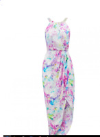 Beautiful Forever New Molly embellished wrap dress UK 10 RRP-£110