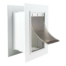 PetSafe Small Wall Entry Pet Dog Door With Closing Panel Zpa00-16201