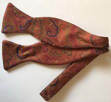 R Hanauer All Silk Paisley Bow Tie