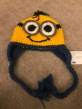Minions Knit Winter Hat Size For For 1-2 Year Old Really Cute