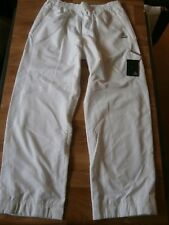 """Mens Adidas Track Bottoms Clima 365 Breathable Wind Pants White Size XL 40""""w 33L"""