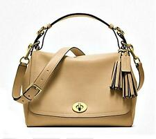 COACH Legacy Camel Tan Sand Leather Romy Top Handle Tote Bag Purse Satchel NICE!
