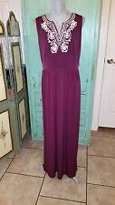 EAST 5th, Sleeveless, Stretchy,  Maroon Colored, Maxi Dress, size large