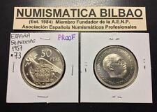 ESPAÑA 50 PESETAS 1957 * 73 @PROOF@ FRANCO ESTADO ESPAÑOL PROCEDE CARTERA FNMT