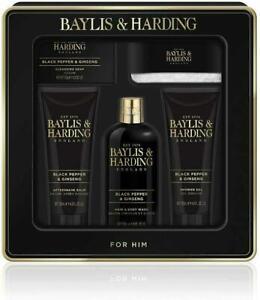 Baylis & Harding Men's Black Pepper & Ginseng Grooming Gift Tin