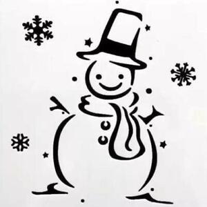 Snowman Stencil - Reusable Plastic Stencil - DIY Home Decor