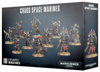Chaos Space Marines Squad 10 Warhammer 40K Black Legion Heretic Astates