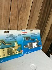 NEW 2 pack LOT National Hardware N342-691 Vinyl Gate Automatic Latch Aluminum