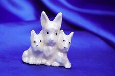 Vintage Porcelain Scottish terrier Norwich 3 dog lusterware norwich Scotty! *