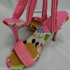 Aldo lace Tie Up Leg Floral Heels Sandals open toe reflective heel Shoes shoe 6
