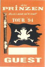 die Prinzen - Alles nur geklaut Tour ´94 - Konzert-Satin-Pass Guest Orange