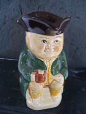 England Wood & Sons  #3 TOBY JUG MAN HOLDING ALE WITH GREEN JACKET