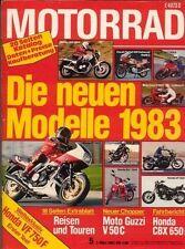 M8305 + Fahrbericht HONDA CBX 650 E + Test HONDA VF 750 F + MOTORRAD 5/1983