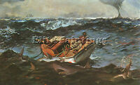 WINSLOW HOMER 2 ARTIST PAINTING REPRODUCTION HANDMADE OIL CANVAS REPRO ART DECO