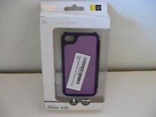 Iphone 4/4s Protective Phone Case Black & Purple
