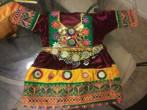 Afghani little girls outfit clothes dress