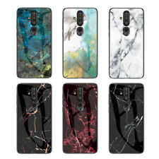 For Nokia 9 PureView 7.1 6.1 3.1 Plus Marble Tempered Glass Hard Back Case Cover