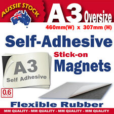 A3, 0.6mm Self Adhesive Magnets, Oversize A3 (460 x 307mm) H.Q. _Australian Made