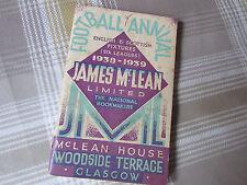 1938 - 1939 James McLean GLASGOW Bookmaker Original FOOTBALL Annual