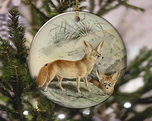 Fennec Fox Vintage Style Animal Nature Christmas Ornament, Christmas Gift