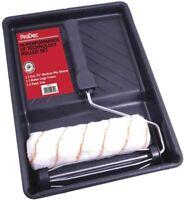 "Pro High Performance Prodec 9"" x 1.75"" Paint Roller Tray Handle Uni Fibre Kit"
