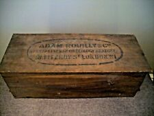 Antique Adam Rouilly & Co. Wooden Box used for Storing Human Skeletal Remains.