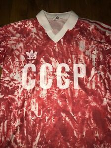 Vintage Adidas 80s CCCP Russia Soccer Jersey Shirt size S