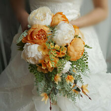 Artificial Peony Flowers Wedding Bride Bouquet Flowers Home Party Decoration UK