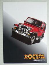 Prospekt asia motors rocsta, aprox. 1995, 4 páginas