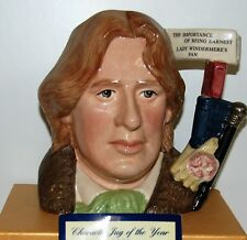 LARGE ROYAL DOULTON CHARACTER JUG OSCAR WILDE D7146 *** PERFECT ***