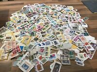 World / Foreign stamps on clipped down paper. Kiloware. FREE UK POSTAGE #E1
