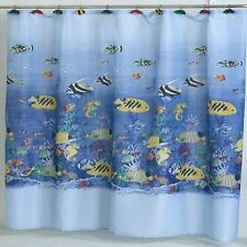 "Carnation Home ""Tropical Sea"" Fabric Shower Curtain"