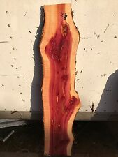 """#248 RED CEDAR OF OKLAHOMA 3/4"""" Thick 46 1/4"""" Long 6 1/2"""" To 11 1/2"""" , Live Edge"""