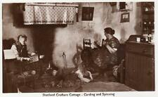 More details for shetland crofters cottage carding & spinning  unused rp old pc