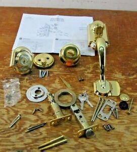 Kwikset 95530-018 Gold Finish Two-Point Locking Single Cylinder Handles