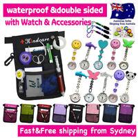 Nurse Pouch+Chrome Watch Extra Pocket Quick Pick Pocket Waist Belt Keyring Pen