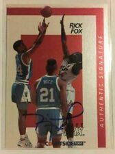 Rick Fox UNC North Carolina Tar Heels Basketball Autograph Courtside Rookie Card