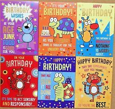 Pack of 6 Funny Humorous Male Mens Female Ladies Open Rude Fun Birthday Cards F1