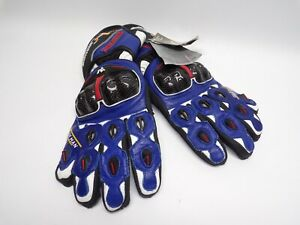 Motorcycle Leather Gloves Isle of Man Road Racing Capital of the World-Blue
