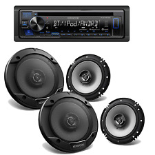 Kenwood Stereo Single Din Bluetooth CD Receiver +2X 6.5