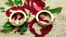Round rhinestone connector charm 18k gold jewellery supplies C1370