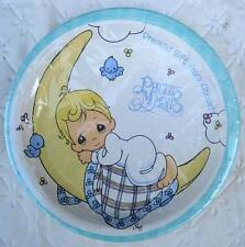 Precious Moments Party PLATES Lunch Baby Shower Birthday Decoration Boy Blue NEW