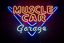 Muscle Car Garage Poster | 18-In By 12-In