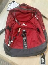 NWT High Sierra Access Backpack Back Suspension Strap System Red/Black