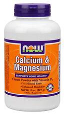 Cal/Mag Citrate Powder 8 oz Now Foods Calcium Magnesium Bone Health
