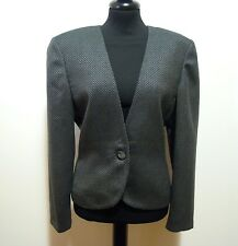 LUISA SPAGNOLI Women's Jacket Wool Tweed Wool Woman Jacket Sz. L - 46