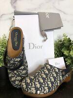 AUTHENTIC! Dior Canvas Oblique DIORQUAKE CLOGS Shoes. SIZES: 6.5, 8, 9, 10, 11